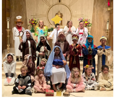 Holy Cross students participate in Christmas show.