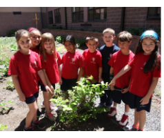 Holy Cross students participate in garden club.